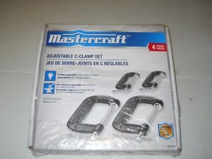 4 C Clamps  by Mastercraft Brand New still in sealed box