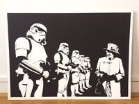 """STREET ART BY TRUST ICON """"THE EMPIRE STRIKES BACK"""" BANKSY-STYLE"""