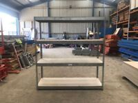 RIVETIER GALVANISED RACKING INDUSTRIAL WAREHOUSE WORKSHOP GARAGE BAY SHELVING