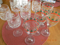 10 wine glasses