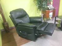 Leather Restwell Rise & Recline Electric Mobility Chair / Armchair - Can Deliver For £19