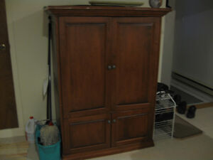 Wood Cabinet TV unit With shelves on the bottom