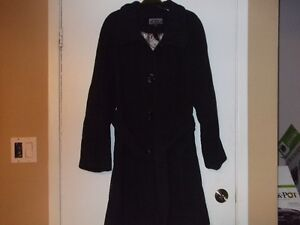 DESIGNER WOOL COAT WITH BELT BY GUILLAUME