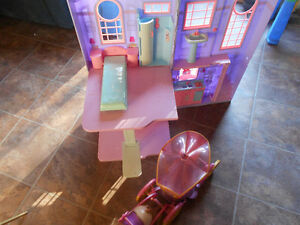 barbie house horse and carriage