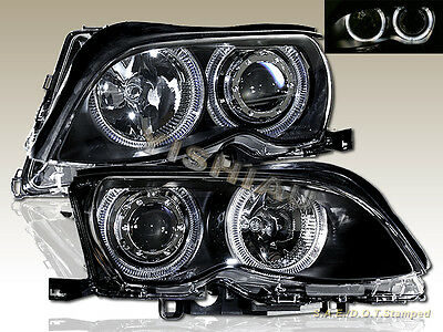 2002-2005 BMW E46 3-SERIES 323i 325i 328i 330i 4 DR SEDAN PROJECTOR HEADLIGHTS Bmw E46 3 Series Sedan