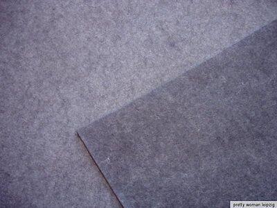 0,5 Laufmeter DEKO- und Bastelfilz 6,63€/m² hellgrau reine Wolle (19)