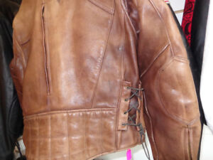 Brown Leather Biker Jacket -extra large-  recycledgear.ca