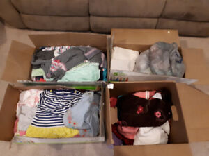4 Boxes (~300 items) of Girl's Baby/Toddler Clothing (0 - 2 yrs)