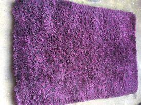 Purple and Black Fleck Rug like Next