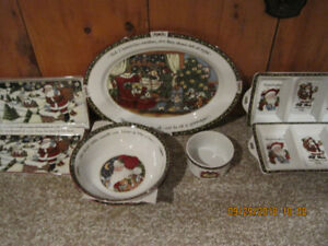 xmas porcelan dishes