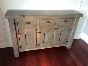 Rustic barnboard live edge custom tables cabinets benches doors Cambridge Kitchener Area image 3