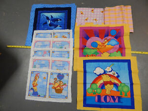 Winnie the Pooh Sewing Panels and Fabrics