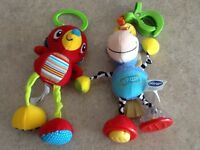 Car seat clip on toys