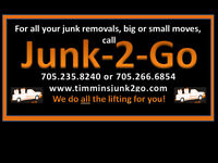 Moving? Call Junk-2-Go - Service Northeastern Ontario
