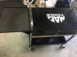 mac tools utility cart with side shelf