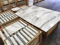 Calacata select polished Italian marble tiles floor and wall cover 457x457mm