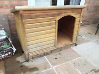 Large wooden dog kennel