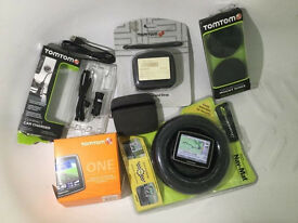 Tomtom one sat nav mat dash mounts cases chargers tom tom one iq routes free post