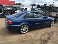 BMW 318ci e46 m sport breaking for all parts spares or repair mv2 alloys topaz blue