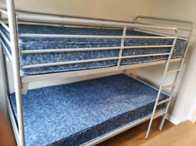 29. Chrome metal bunk beds