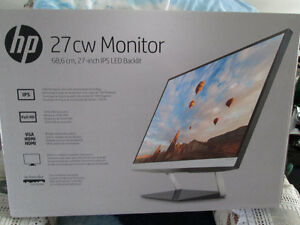 BRAND NEW IN BOX HP 27IN LED MONITOR HDMI