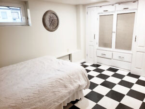 Fully furnished basement apartment for rent$695