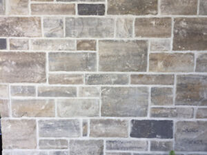 180 square feet of manufactured stone for sale