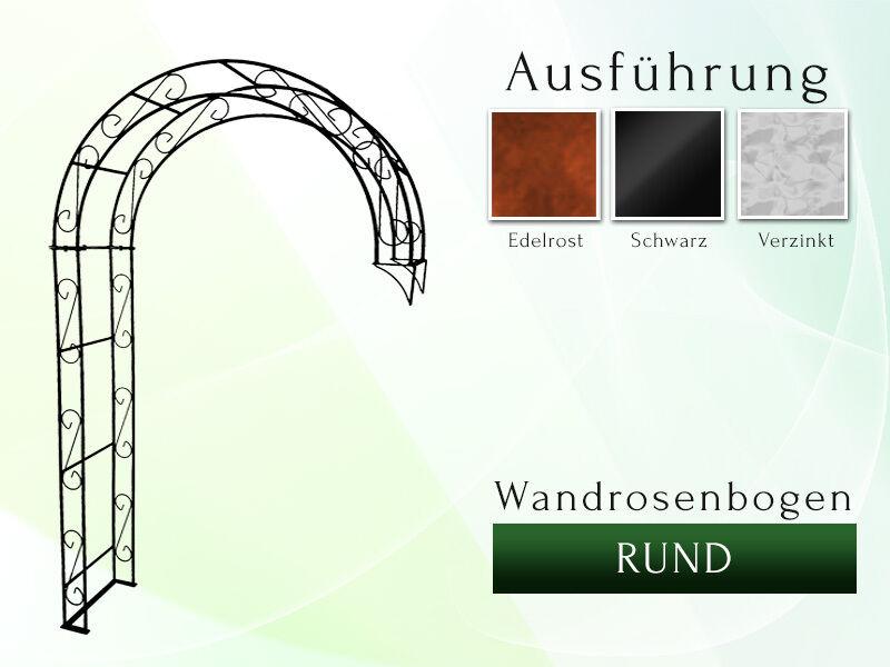 Wandrosenbogen  HOLLAND RUND 1,60m Halbpergola Rosenbogen Metall Pergola
