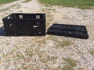Black Storage Crates London Ontario image 1