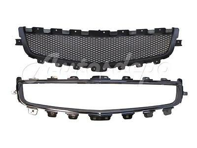 FOR 2008-2012 MALIBU HYBRID Center Grille Blk Insert With Chrome Moulding Shell