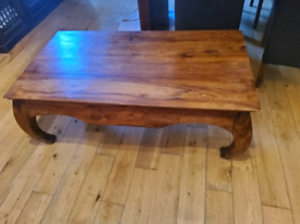 Large sheesham wood coffee table, heavy duty