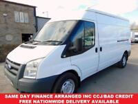 2012 12-REG FORD TRANSIT LWB, 2.4 MEDIUM ROOF, ONE OWNER FROM NEW, FULL HISTORY