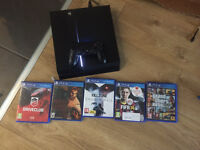 PlayStation 4 console with gta 5