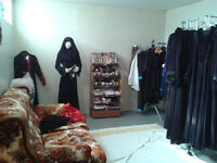 Abayas, Burkhas, Scaves, Niqabs, Hijabs, Kids Scarves, etc.