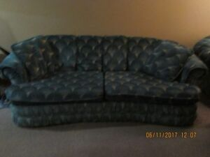 Sofa and Chair $200.00. And 3 living room lamps $60.00