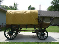 Authentic Restored Covered Wagon