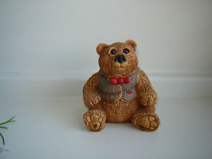 Vintage 1984 Stone Critter Collectible Teddy Bear London Ontario image 1