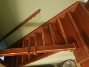 Solid Cherry stairway