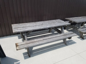 Gently used picnic tables for sale!
