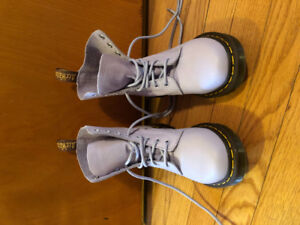 Size 6 women's lavender Doc Martens barely worn $100.00 OBO