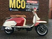 ROYAL ALLOY GP125 LC Modern Classic Retro Automatic Moped Scooter Liquid cool...