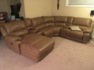 pretty much new leather sectional