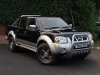 2002 Nissan Navara D22 Pick UP, BLACK, MANUAL, ALLOYS, NO VAT, CHROME ROLL BAR