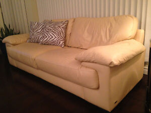 Genuine Leather Sofa, Chair and Ottoman