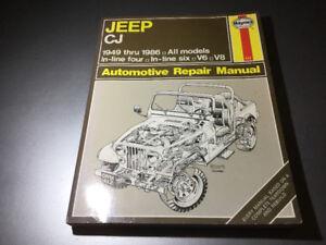 1949-86 Jeep Shop Manual Scrambler Renegade CJ2 CJ3 CJ5 CJ6 CJ7