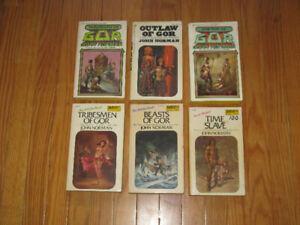 Vintage Gor Books by John Norman 6 Science Fiction Books