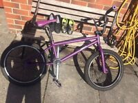 purple mongoose bmx fitted with new chain for sale 48