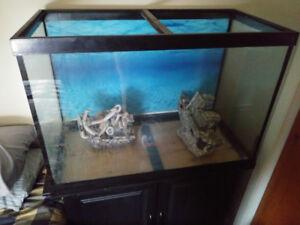 Aquarium 60 gallons avec meuble et filtreur Eheim 175$