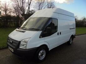 2013 13 FORD TRANSIT 2.2TDCI 125BHP MWB HIGH ROOF RWD EURO 5 1 OWNER 85000 MILES