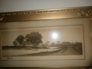 Print signed by artist E.C.Rost. gorgeous frame London Ontario image 4